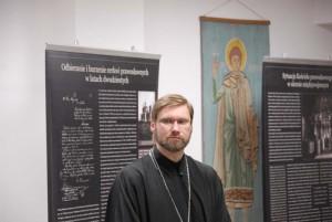 виставку відкрив директор Центру православної культури о. Андрій Левчак. Фото автора статті