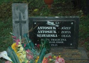 Могила убитих українців у Сагрині на Грубешівщині. Фото Ярослава Присташа
