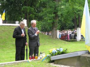 Вшанування могил вояків УПА. Фото автора статті