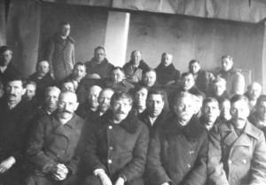 Українці з Лащева, члени поступового – але польського – товариства Каса Стефчика (райфайзенівка), 1936 р.