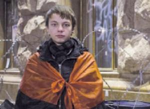 О. Гошилик на Майдані, зима 2014