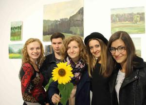 Студенти Львівської національної академії мистецтв, учасники пленеру. Фото Йосипа Марухняка