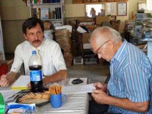 <strong> Ініціатор проекту – д-р Григорій Купріянович та д-р Микола Рощенко.</strong> Фото авторки статті
