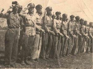 <strong>1946 р. Динівське підгір'я. Загін комуністичних карателів (міліціонерів) вирушає в терен на бій з УПА та цивільним
