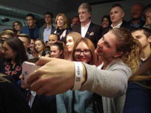 <strong>Віктор Ющенко і Петро Тима серед студентів.</strong> Фото автора статті