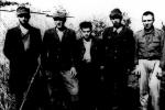 Група членів УПА, яких зловили вояки ВП в районі Сянока