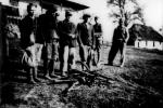 Група членів УПА, яких у бункері в районі Сянока зловили вояки ВП