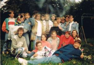 Такі ми були на початку ґуровської «чотирилітки». Вірю, що друзі та вихователька простять цю деконспірацію (90-і роки). Фото з архіву Григорія Сподарика
